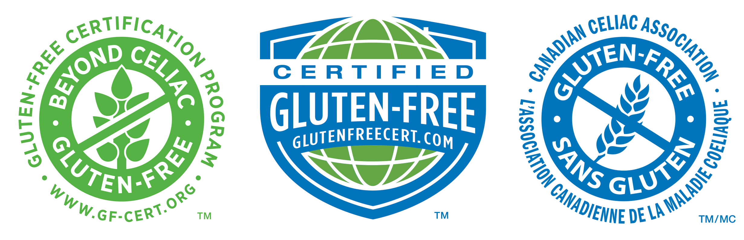 This is a photo of Luscious Certified Gluten Free Label